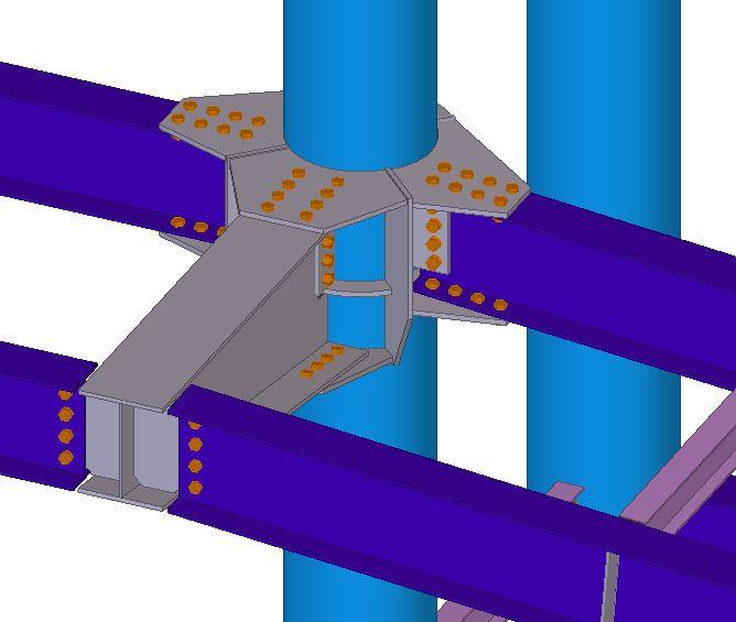 Prefabricación y montaje de estructura metalica.